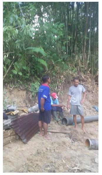 PIPA PVC DIAMETER 10 INCI PECAH DI JALUR UMBUL TENGKOH