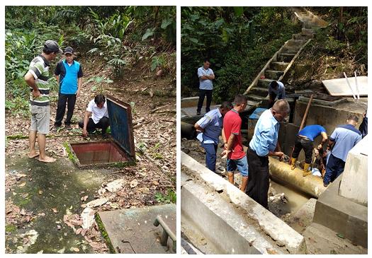 Foto :  Direksi PDAM Tirtauli sedang melaksanakan peninjauan ke Umbul Habonaran dan Naga Huta.